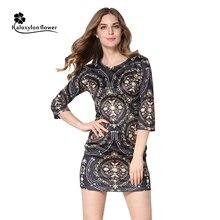 2016 Summer Women Sexy Dresses Half Sleeve Mini Print Different Dress Vintage Fashion Party Club Sheath Bodycon Vestidos Dress