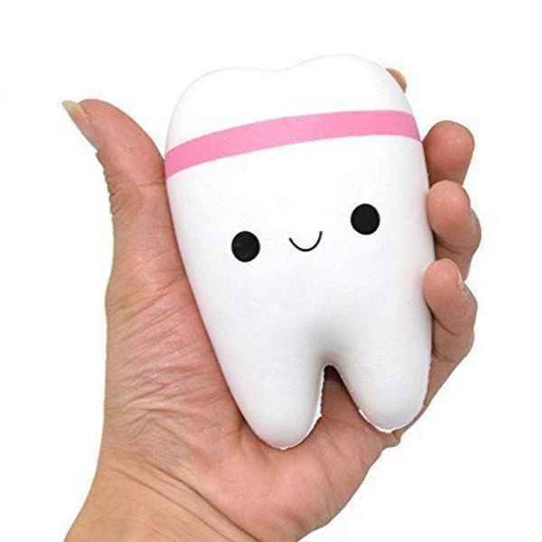 2 милый мультфильм зуб кулон мягкие игрушки медленный отскок снятие стресса игрушки медленно поднимающийся Джамбо милый