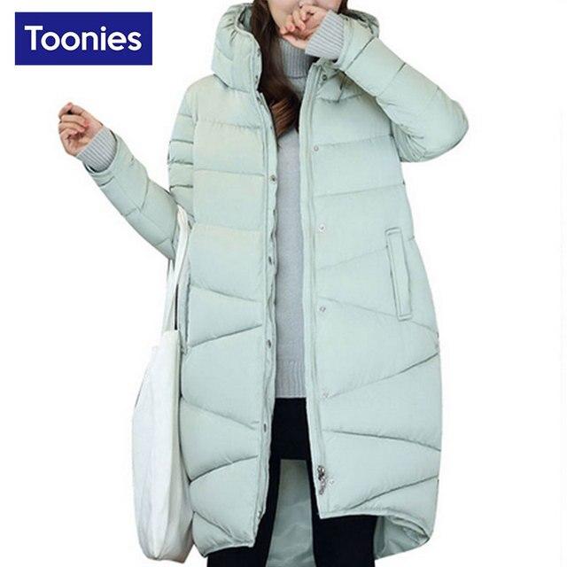 Women Solid Warm Thicken Winter Parka Cotton-padded Jacket Women Long Turtleneck Coats Slim Fintness All-match Plus Size Coat