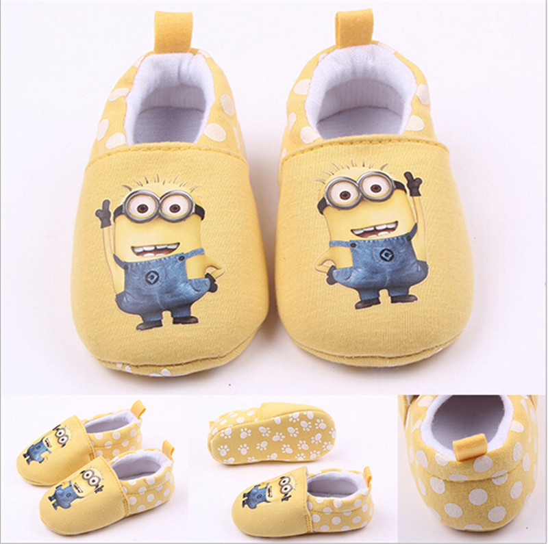 2015 Lovely Cartoon Baby Shoes Soft Sole Cotton Infants First Walkers Toddlers Boys Girls Crib Shoes