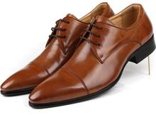 Высокое качество мода Черный/коричневый мужские платья обувь натуральная кожа свадебные туфли мужские деловые туфли 2017 oxfords обувь