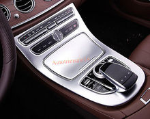 Matte Gear Box Panel Frame Cover Trim For Mercedes Benz E-Class W213 2016 2017