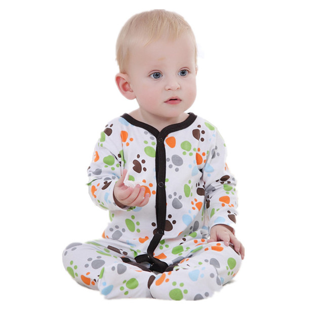 Baby Romper Print Baby Boy Romper Jumpsuits Cotton Baby Clothing Long Sleeve Cute Toddler Full Bodysuit Baby Newborn Costume