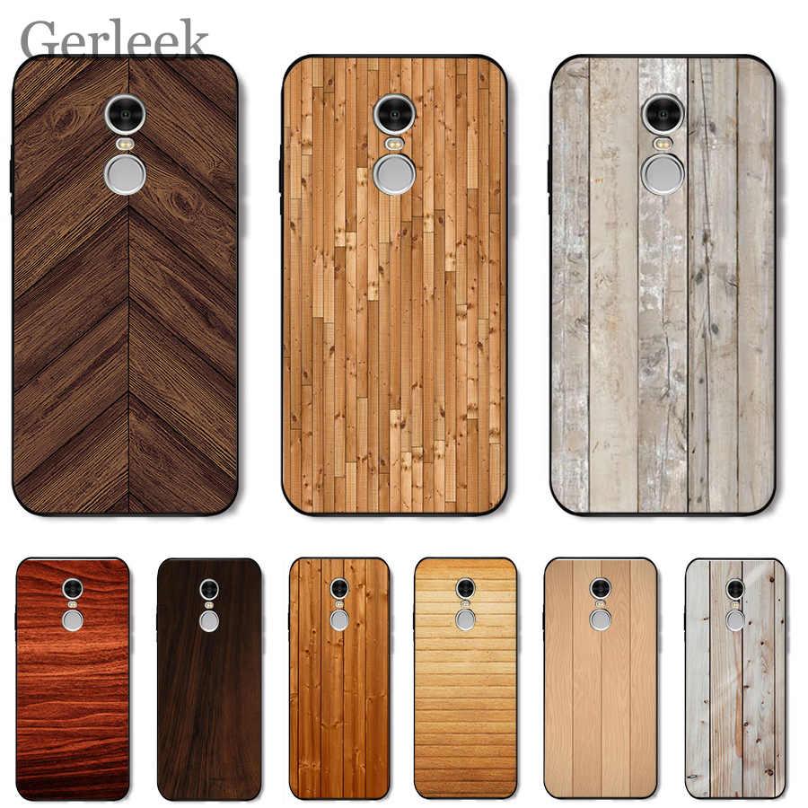 Funda de móvil textura de madera para Xiaomi Redmi Note 4 4A 4X 5 5A 6 7 GO S2 6A Pro Plus Prime Cover