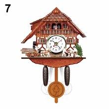 1 шт Высокое качество старинные деревянные настенные часы с кукушкой птица времени колокол качели будильник часы художественный домашний декор ВК