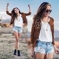 Mujeres chaqueta de la capa ocasional 2016 nueva moda Tassel chaqueta de la capa camperas mujer veste tamaño S-XL
