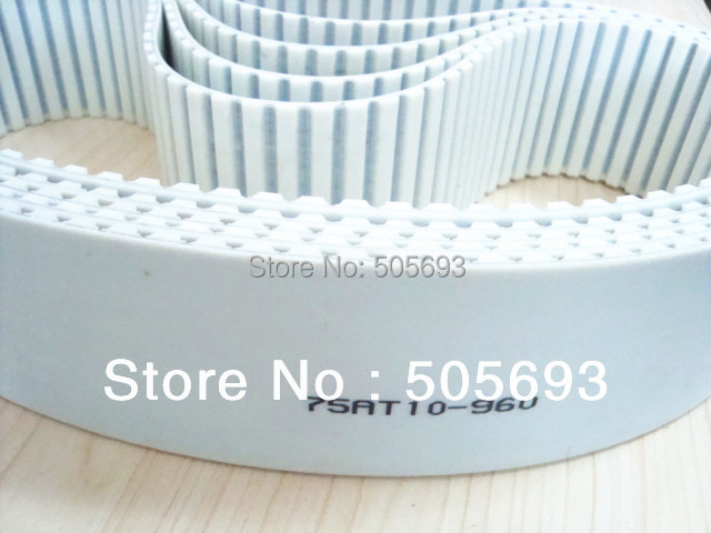 AT10 closed PU belt width 75mm sell by 5pcs/package 15mm width t5 steel core endless timing belt closed loop pu belt