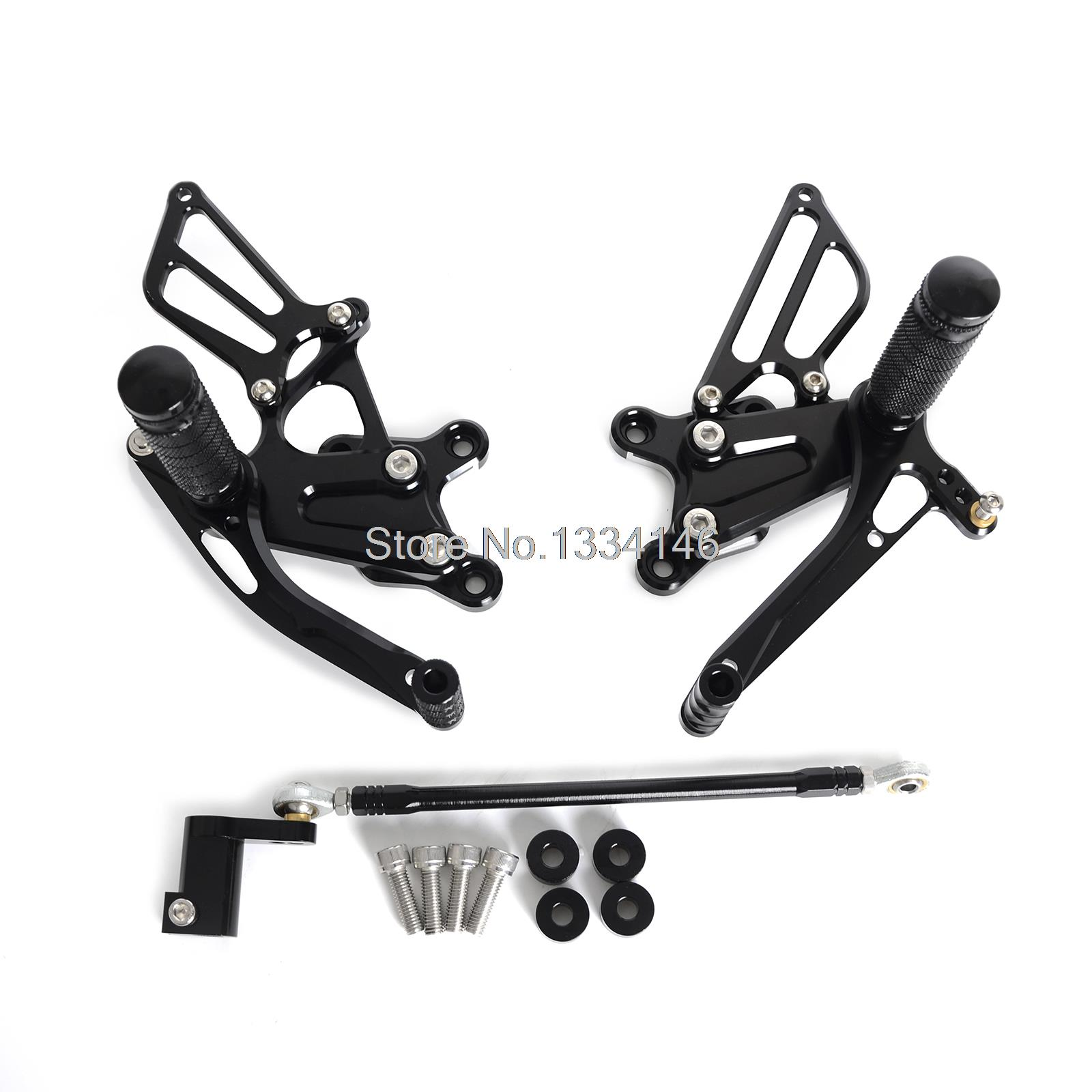 Black Foot Pegs CNC Billet Adjustable Racing  Rear Sets For Honda CBR929RR CBR954RR 2000 2001 2002 2003 meziere wp101b sbc billet elec w p
