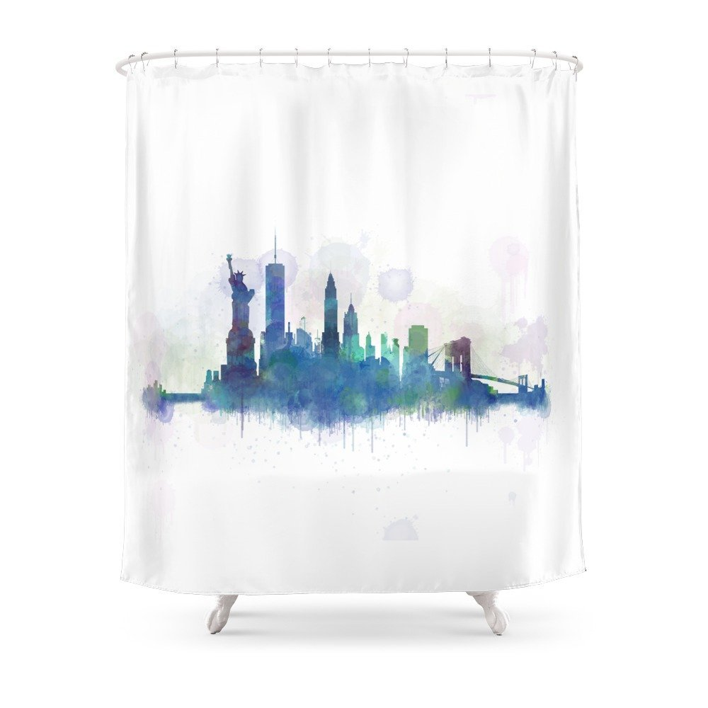 NY New York City Skyline Shower Curtain Custom For Bathroom Waterproof Polyester In Curtains From Home Garden On Aliexpress
