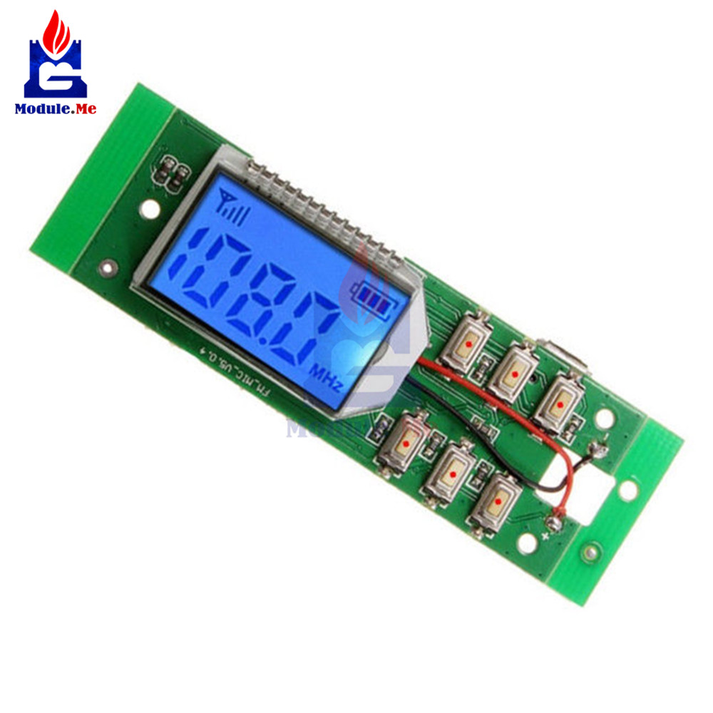 DC 3-5V FM Module FM Transmitter Module Wireless Microphone Circuit Board 87.0MHz-108.0MHz Computer Audio Transmitting