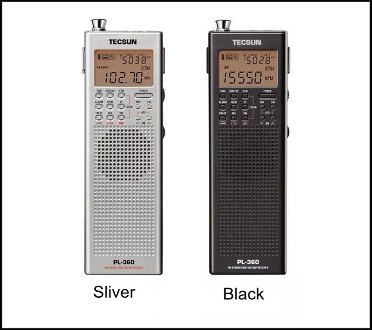 Original Tecsun Pl 360 Tragbare Digitale Radio Usb Am Fm Pocket Radio Recorder Kurzwelligen Pll Dsp Etm Sw Mw Lw Empfänger Pl-360 Neue GläNzende OberfläChe Tragbares Audio & Video