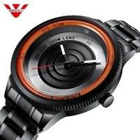 Nibosi relógio de luxo unissex com fotográfico  relógio de pulso impermeável unissex  esportivo e criativo  estilo de quartzo