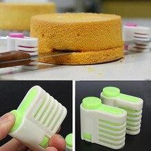 Слоеный уравнительным мусс пирог slicer cutter хлеб пищи выпечки приготовления пластика