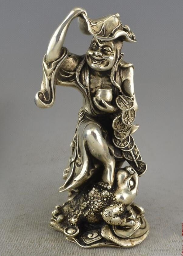 Argent mythe richesse huit immortels symbole crapaud d'or Spittor Liu Hai
