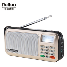 Rolton W505 Mini Portable Radio Handheld Digital FM USB TF MP3 Player Speaker with LED Display Subwoofer Player/Torch Lamp