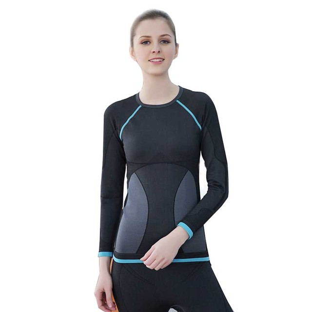 2016 New Brand Thermal Underwear Women Winter Quick Dry Anti-microbial Stretch Lady Thermo Underwear Sets Female Warm Long Johns