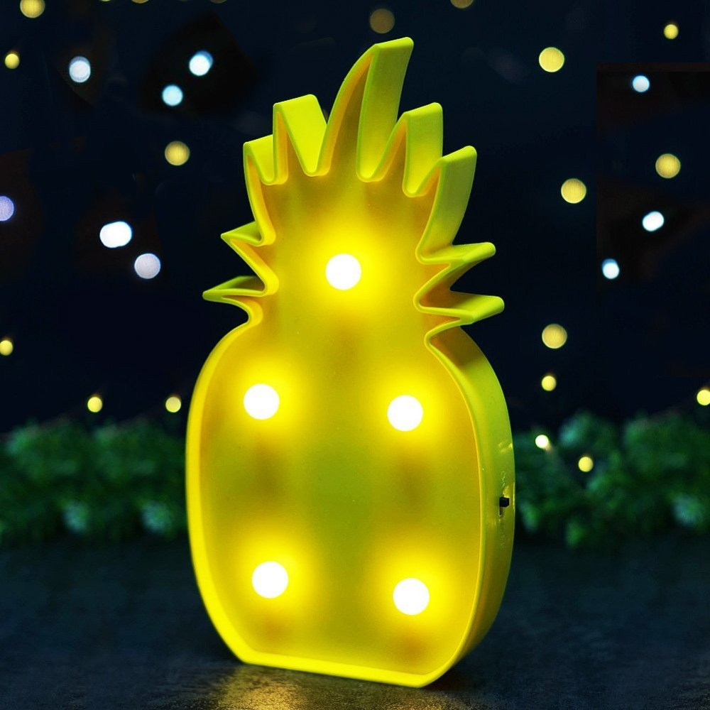 Yellow Pineapple LED Marquee Signs with Lights 10\