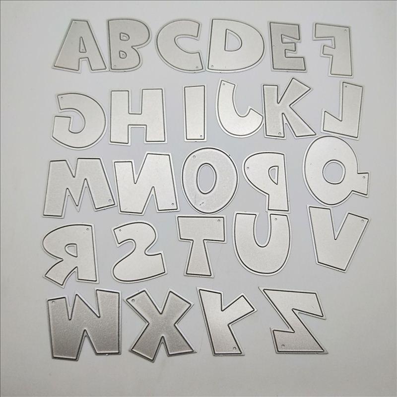 Image 4 - large alphabet dies word cutting dies 26 metal die alphabet Letters Name Card DIY stamps and dies for card makingletter namecard coverscrapbooking dies -