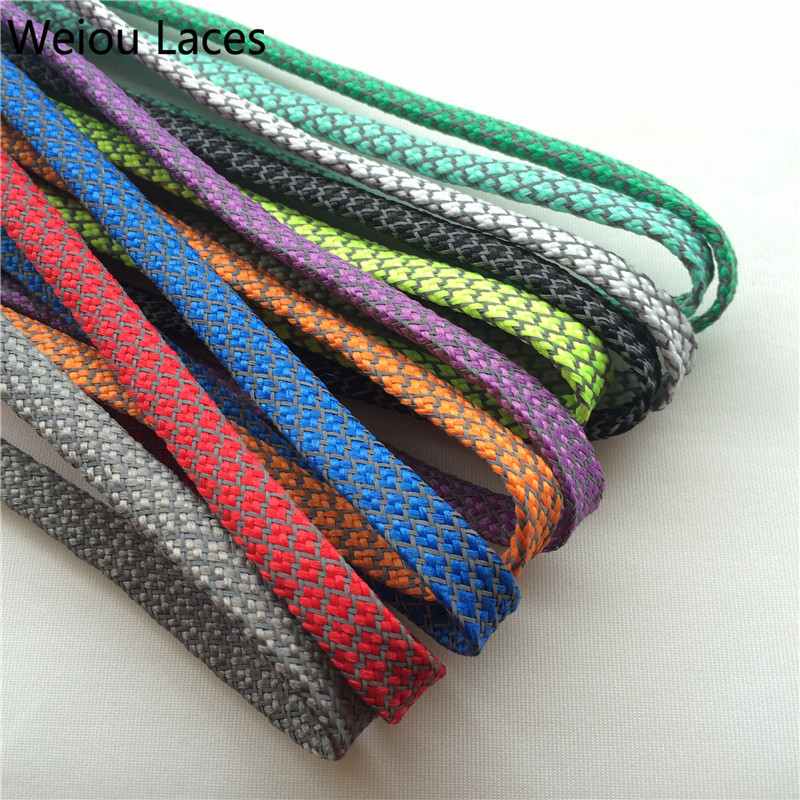 Offical Weiou New Flat 3M Reflective Shoelaces Runner Weave Tape Athletic Safety Shoe Laces Bootlaces For Running boots 350 750 цена в Москве и Питере