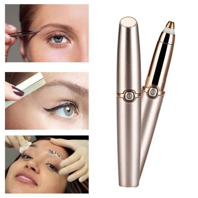 Electric Eyebrow Trimmer Shaver for Women Painless Hair Removal Makeup Razor Portable Hair Epilator 3