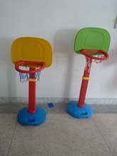 Free shipping Child small basketball shelf kids indoor play plastic basketball frame can lift