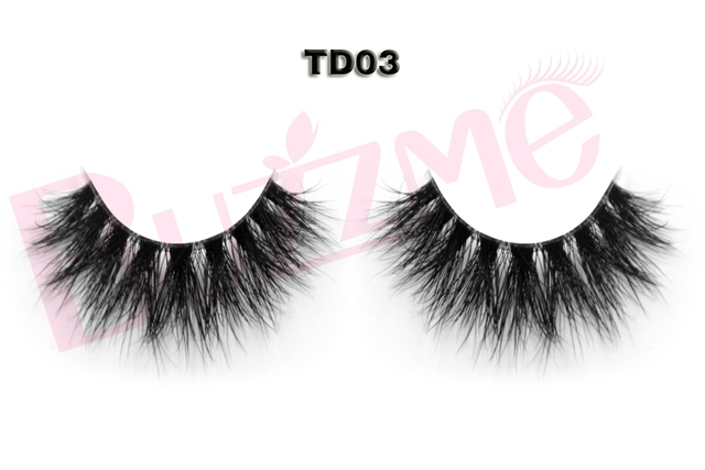 NEW 3D mink false eyelashes 100% Handmade transparent plastic clear band thick faux mink lashes