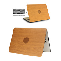 2016 Fashion WOOD GRAIN PU Leather Laptop Cases For Apple MacBook Air 11 13 For MAC