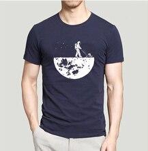 Lasting Charm Creative Design Develop The Moon Men Sports T-shirts Short Sleeve T Shirt Mens Jersey Top