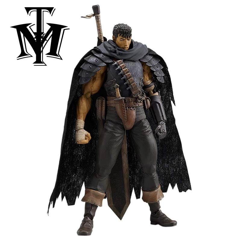 US $15 28 43% OFF|Anime Berserk Guts Black Swordsman Ver Repoint Edition  Figma 359# PVC Action Figures Model Collection Toys Doll With Beruseruku-in