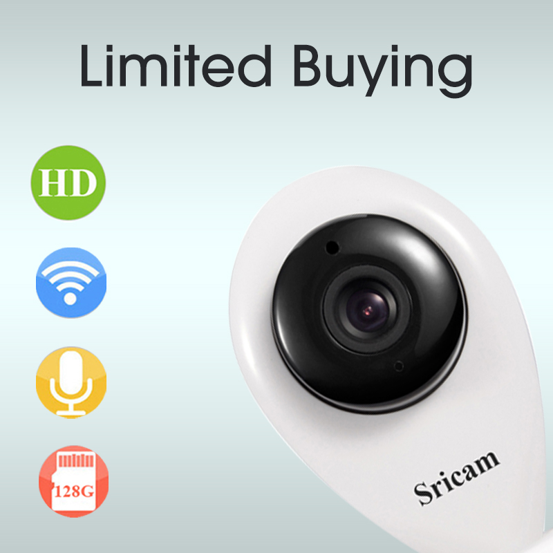Free Shipping Sricam Smart Onvif Motion Detection CCTV Security Wireless WIFI IP Camera HD 720P WI-FI P2P Mini Baby Monitor bw wifi wireless hd 720p smart p2p ip box camera two way voice intercom motion detection ptz baby monitor automatic alarm cctv