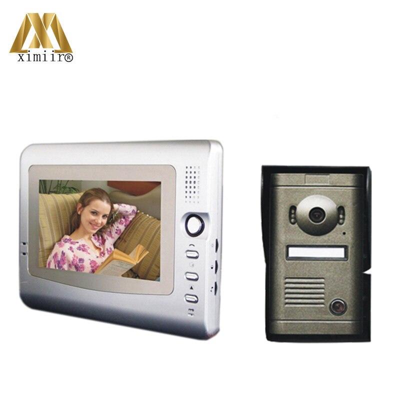 Metal Case Waterproof Case 7 Inch Video Intercom Night Version Video Doorbell Access Control System V7C-P