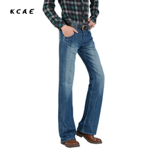 2016 New Boot Cut Jeans autumn and winter retro high quality washing fashion Denim Jeans Boot Cut Jeans regular Plus Size