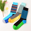 2017 Hot Sale Socks New Fashionable Brand Happy Socks Colorful Pure Cotton Male Long Tube Socks Casual Comfort For Men's Socks