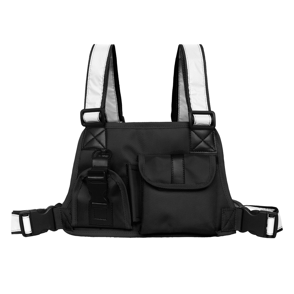 Tactical Package Men Vest Chest Bag Pocket Radio Chest Harness Front Fanny Pack