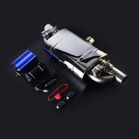Car Muffler With Vacuum Pump Cutout Valve Control Sets Single Inlet to Double outlet 2 Valve Remoter Control Valve kits