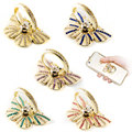 5x Butterfly Phone Holder, Finger Ring Kickstand & Free Hook for iPhone Samsung HTC LG Xiaomi iPad Smartphones Tablets Support