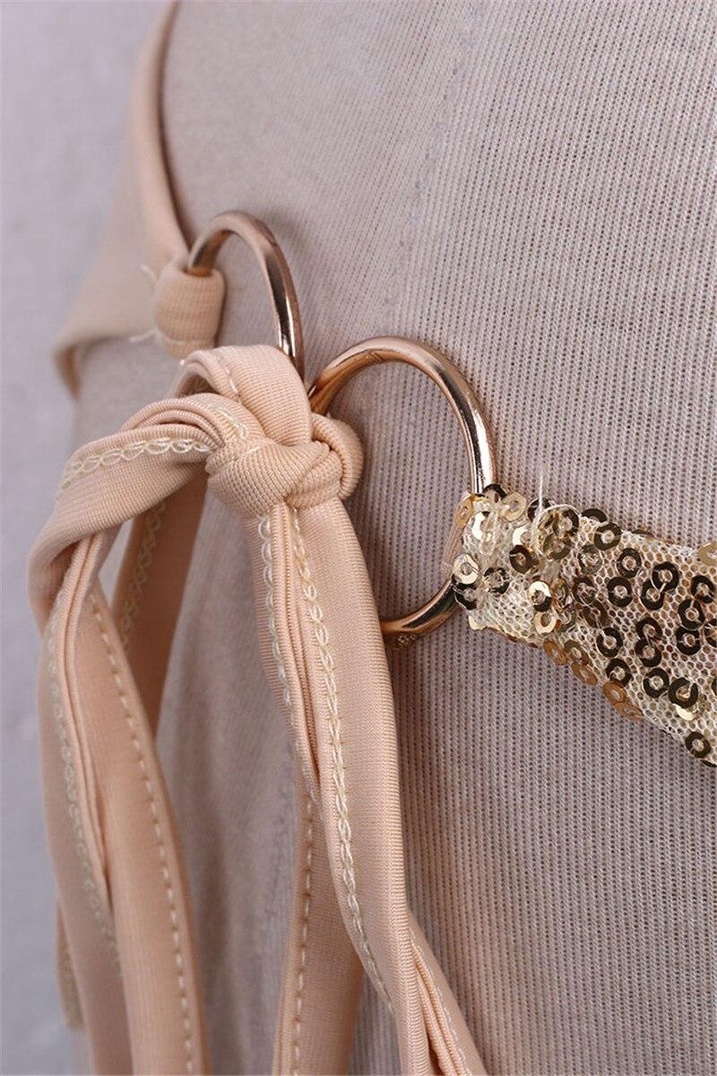 Newest Design Gold Sequins Women Push-up Padded Bra Bandage Bikini Set Swimsuit Swimwear Bathing wholesale bikini swimsuit 5