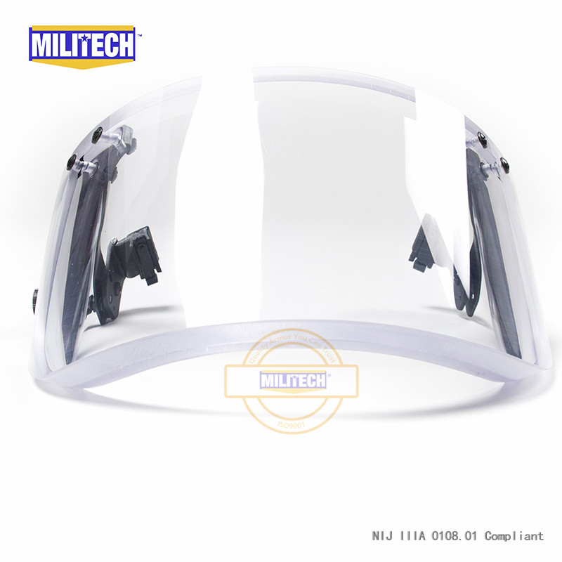 Image 4 - MILITECH NIJ 0108.01 IIIA 3A Bulletproof Visor for ACH FAST Tactical Helmet Bulletproof Visor Bullet Proof Mask For Helmetshelmet sleevehelmet partvisor hats -