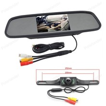 2 Video input Car Mirror Monitor 5 Inch TFT 800*480