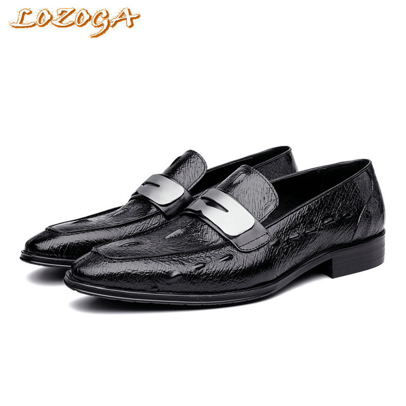 2017 luxury new design men dress shoes Italian handmade genuine leather crocodile loafer shoes driving shoes slip-on basic shoes branded men s penny loafes casual men s full grain leather emboss crocodile boat shoes slip on breathable moccasin driving shoes