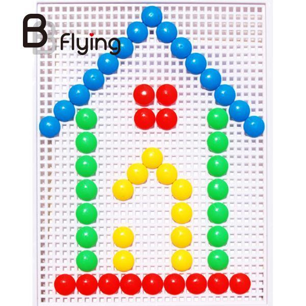 Puzzle Toy Plastic Nail Composite Picture Creative Educational Mosaic Kit Cartoon For Kid Child New