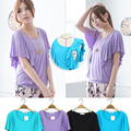 MamaLove Fashion Modal Soft Maternity Clothes Maternity Tops BreastFeeding Tops Nursing top Nursing Clothes For Pregnant Women