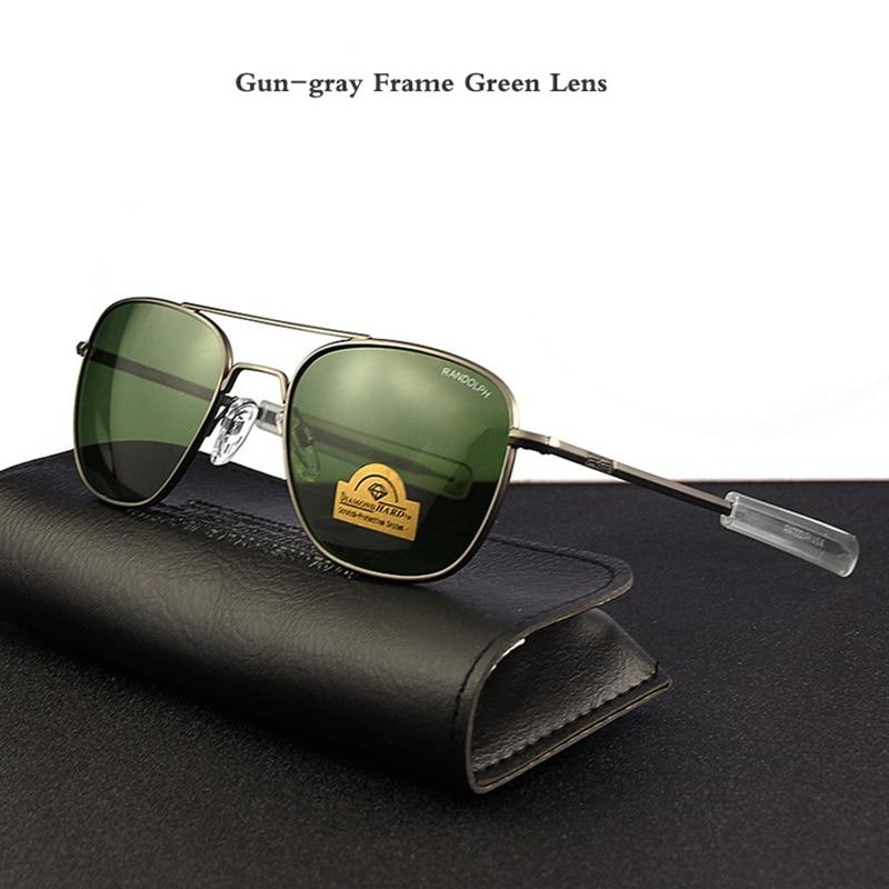 Gun-gray Frame Green Lens
