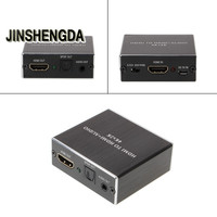 JINSHENGDA Audio Video Cables HDMI To HDMI Audio 3 5mm Stereo SPDIF Extractor Converter Adapter Support