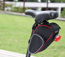 Roswheel Large capacity Folding bike Cycling Seat Bag Road Bicycle Saddle Bag Basket Seat Post Bags red with black color