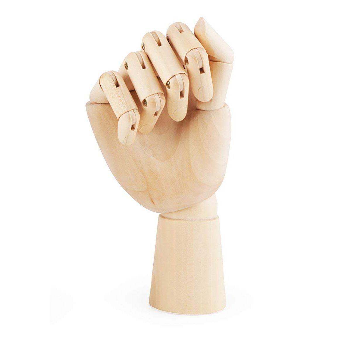 18X6cm Wooden Artist Right Hand Gift Art Alternatives SKETCH Flexible Decoracao