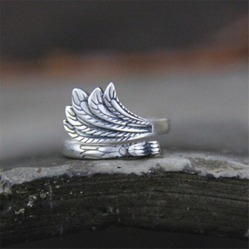 100%Pure S990 Sterling Silver Phoenix Ring Wholesale Gorgeous Guarantee silver Jewelry Drop Shipping