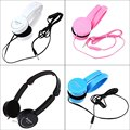 Multi-color Earphone Headphones Headset Noise Canceling Retractable Over-ear Headband with Microphone Stereo Bass for Kids Gift