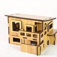 Quebra-cabeça 3D Inteligência Brinquedos Enigma Brinquedos de quebra-cabeças de madeira educativos de alta qualidade para crianças Casa DIY