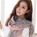 Paris nuevo Mantón de La Bufanda de invierno bufandas al por mayor al por mayor de Corea de Las Señoras poco gradient voile